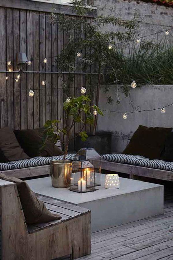 Inspiración deco: Lo tuyo son luces y lo de estas terrazas,...