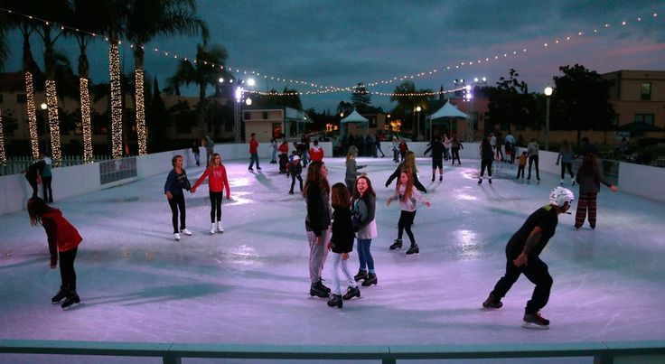 Yes, San Diego, you can ice skate outside