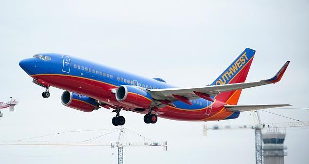 Das Flugzeug der Southwest Airlines brach den Start ab.