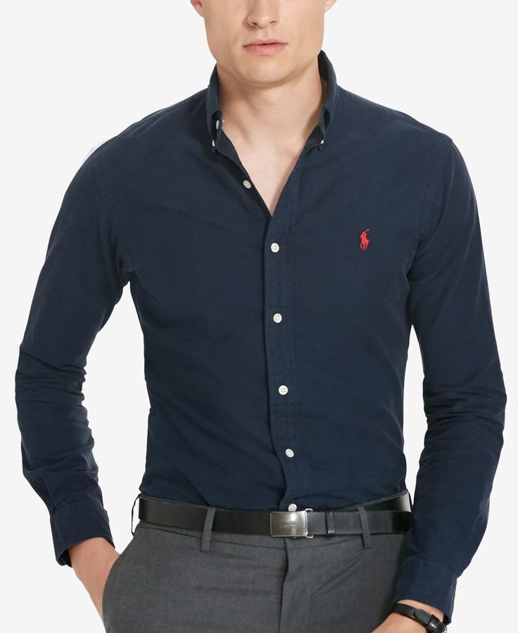 Polo Ralph Lauren Men's Garment-Dyed Oxford Shirt