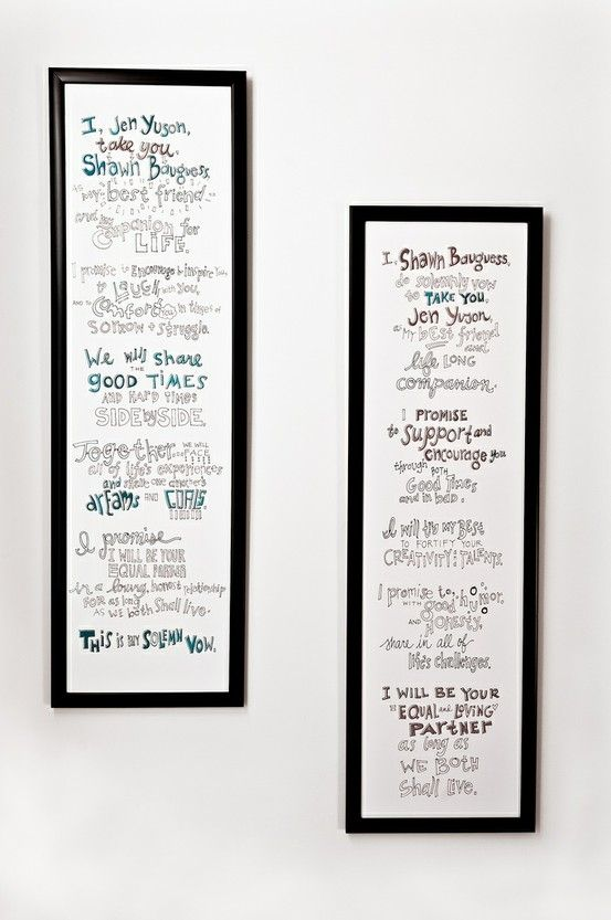 15 Best Images About Wedding Vow Art On Pinterest