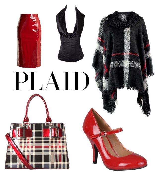 """contest: plaid"" by dtlpinn on Polyvore featuring Diophy, Journee Collection, Saloni and Dolce&Gabbana"
