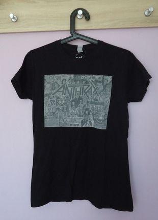 Kup mój przedmiot na #vintedpl http://www.vinted.pl/damska-odziez/koszulki-z-krotkim-rekawem-t-shirty/13518367-bluzka-z-krotkim-rekawem-tshirt-koszulka-anthrax-damska-m-38-czarna