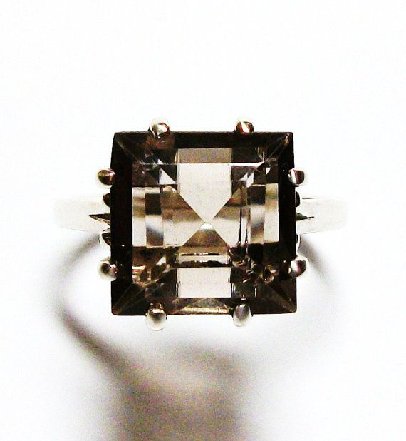 Love this!!!!   Smokey quartz ring brown ring solitaire ring by Michaelangelas, $44.50