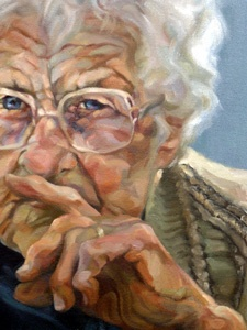 Lee Byford    Lee is an exceptionally talented self taught artist, working in top quality oil paints on canvas. She specialises in portraiture after taking several months to capture the feeling and identity of the sitter and characterised by a moody yet softened back drop.
