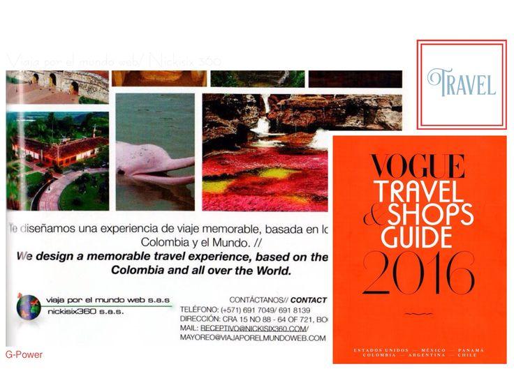 Un espacio para nosotros en la revista VOGUE TRAVEL & SHOPS GUIDE