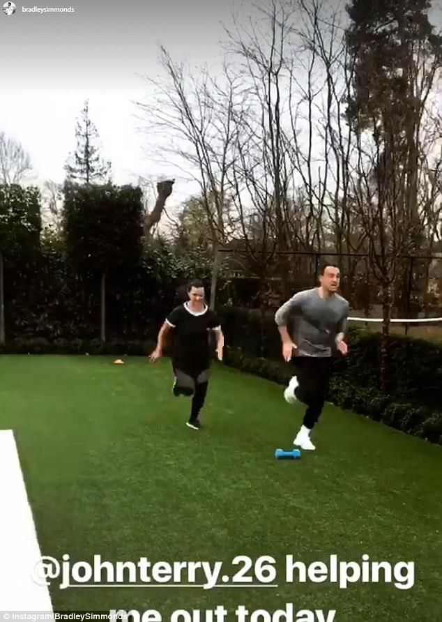 John Terry keeps up his fitness levels during international break as Chelsea captain works out with wife Toni – 1hrSPORT