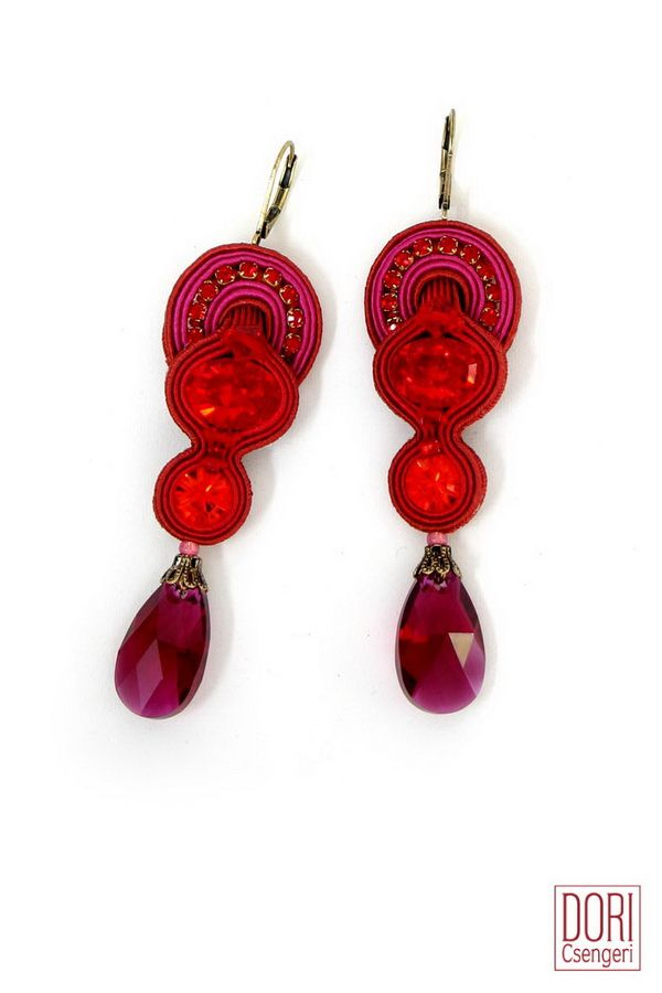 red : Scandal Red Drop Earrings