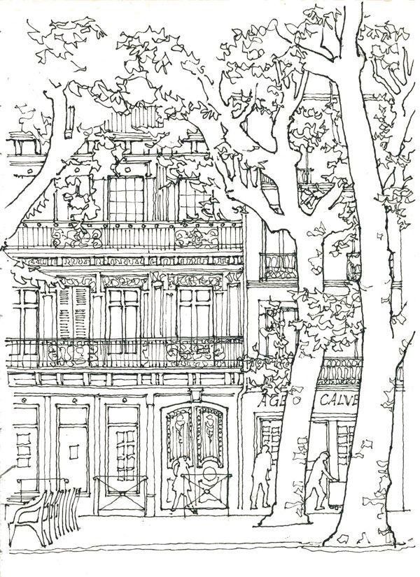 컬러링 도안 어른 색칠공부 어려운 색칠공부 컬러링북 거리풍경 집 건축물 이번엔 살고 싶은 멋 색칠책 컬러링 시트 스케치