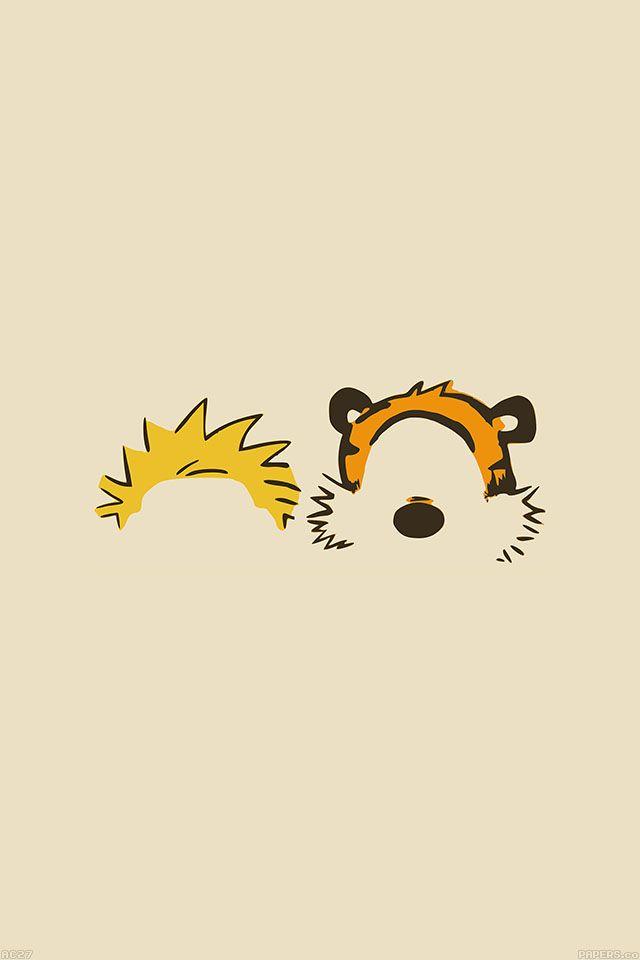 FreeiOS7 | ac27-wallpaper-calvin-hobbes-minimal-illust | freeios7.com