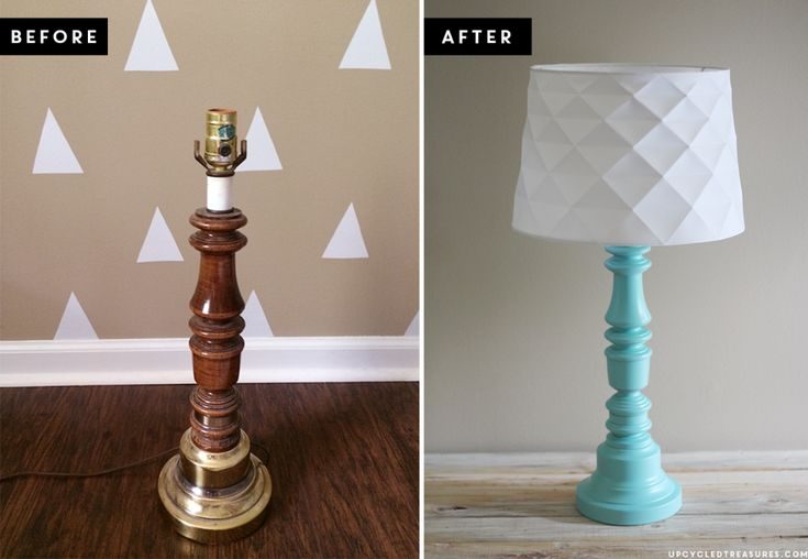 Thrifted Lamp Makeover | UpcycledTreasures #DIY #upcycled #lamp