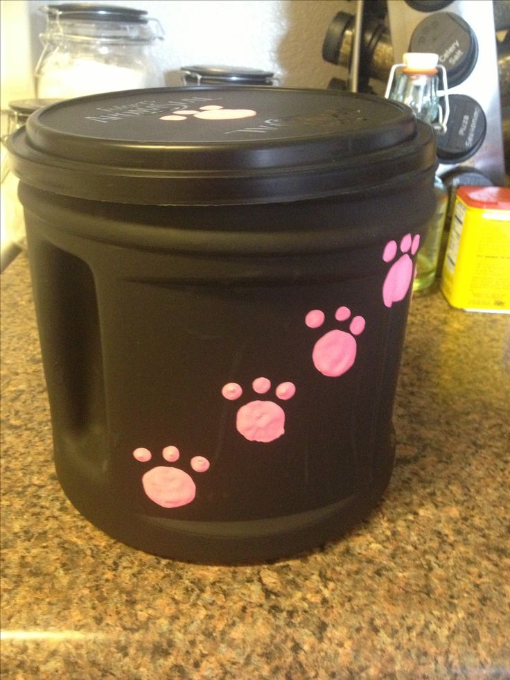 Kitty treat jar from old coffee container
