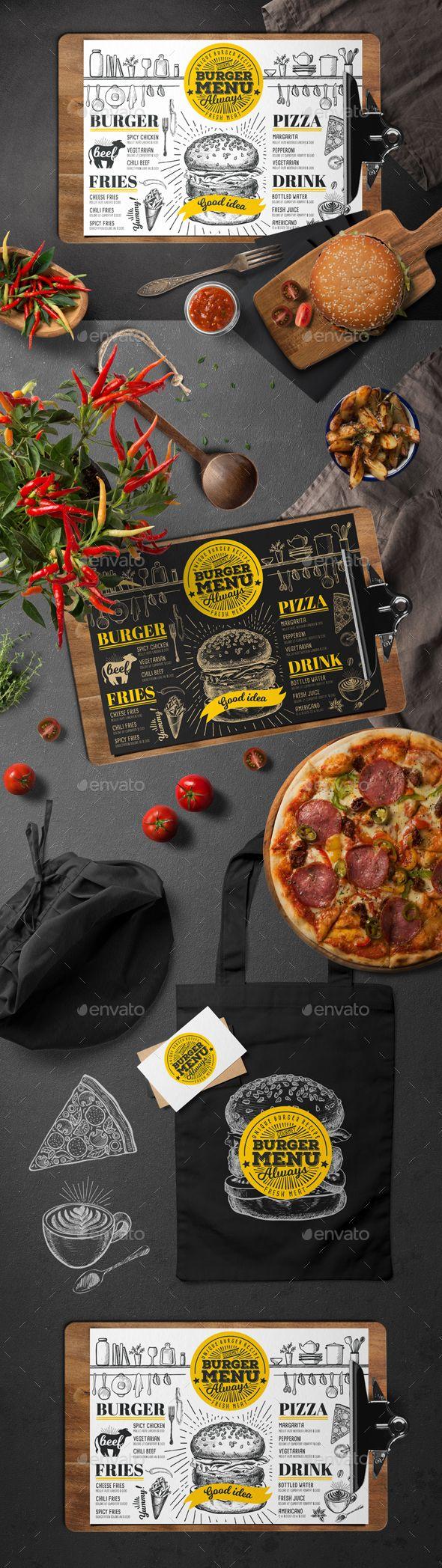 Food Menu Template PSD, Vector EPS