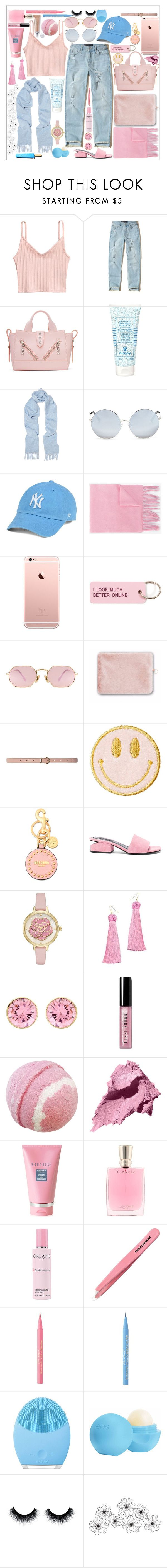 """Pinks and blues//Lucy"" by lucylime ❤ liked on Polyvore featuring Hollister Co., Kenzo, Sisley, Johnstons of Elgin, Matthew Williamson, '47 Brand, Gucci, Various Projects, LMNT and Tom Dixon"