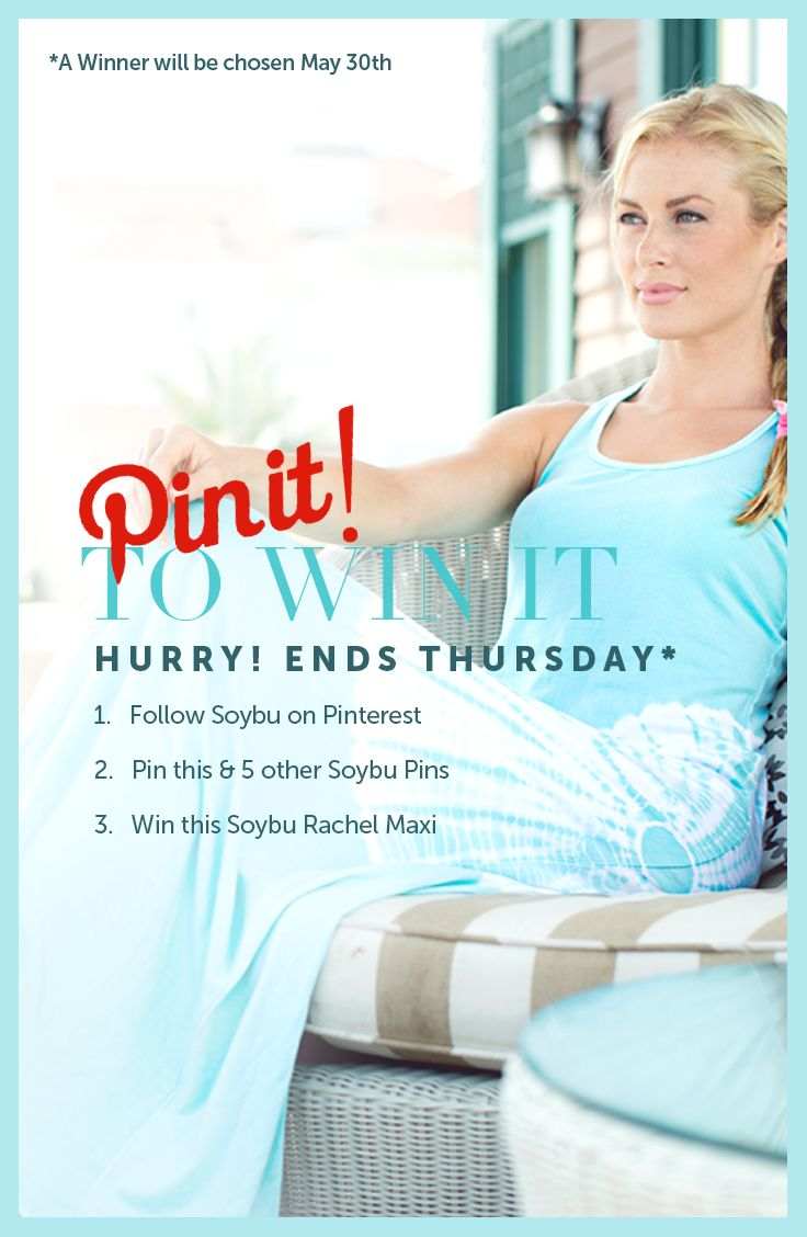 ONLY THIS WEEK May 23-30th! Pin NOW to be entered to win this Rachel Maxi by Soybu! #soybu #loveyourbody