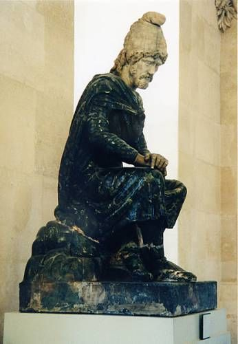 Statue of a Barbarian, seated, Paris, Louvre Museum, inv. MA 1383