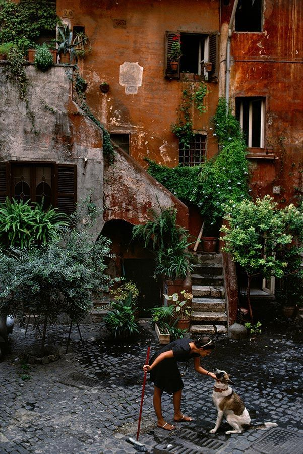 Roma, pátio interior - Itália.