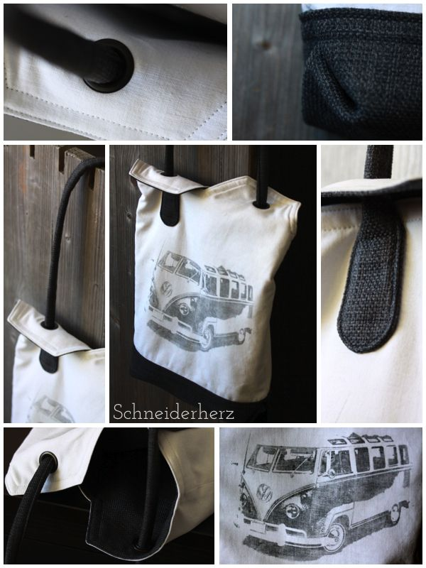 Tasche aus Bettlaken / Bag made from bed sheet / Upcycling