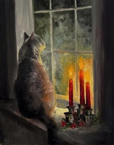 "Daily Paintworks - ""Waiting"" - Original Fine Art for Sale - © Karen Robinson"