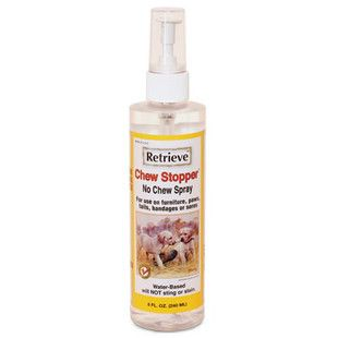 Most effective chewing deterrent on the market today. Stop dogs from chewing and gnawing on valuable items with this simple spray. Can be used on any washable surface - even on wounds. For use on furn