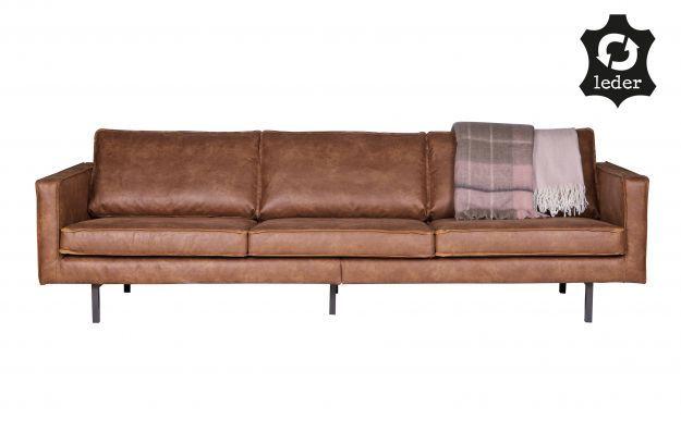Rodeo bank 3-zits cognac | Banken & fauteuils | Woonkamer | BEPUREHOME