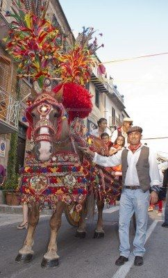 POLIZZI GENEROSA, SICILY - AUGUST 19:Folkloristic Parade Of Traditional.. Royalty Free Stock Photo, Pictures, Images And Stock Photography. Image 15108043.
