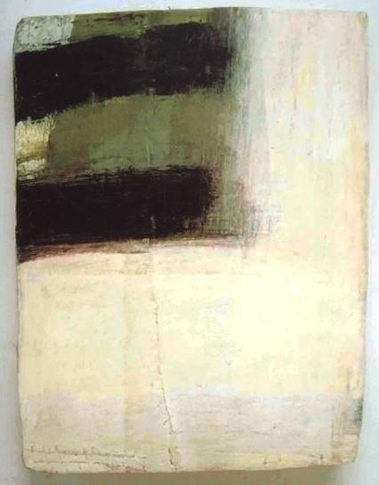 LAWRENCE CARROLL Corner Painting, 2005-2006 Mixed media on canvas cm. 64x48x8