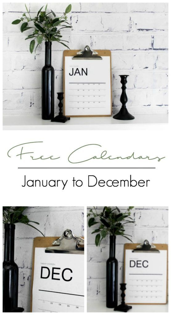 Download free modern 2018 Calendars! Monthly printables to help organize your office and life!