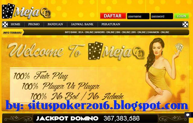 Agen judi poker dominoqq bandarq online terbesar di Asia