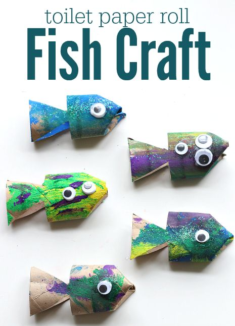 Cutest fish craft made with toilet paper rolls.