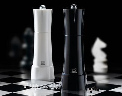"""Check out new work on my @Behance portfolio: """"Peugeot salt & pepper mills """"Chess"""" 2015"""" http://be.net/gallery/36064445/Peugeot-salt-pepper-mills-Chess-2015"""