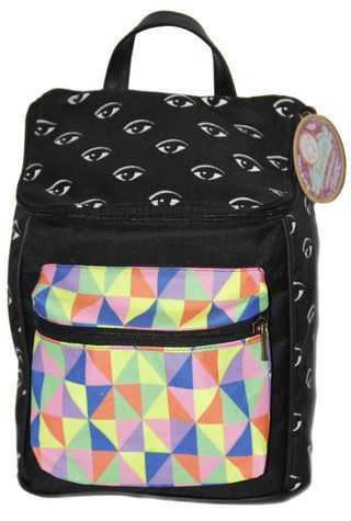 Morral tapa estampada.