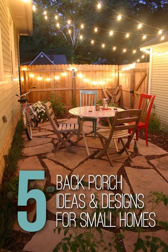 5 Back Porch Ideas Amp Designs For Small Homes Backyard