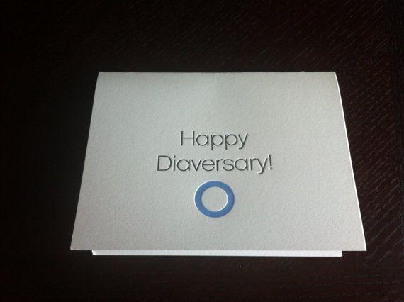 Happy Diaversary diabetes diagnosis by BlueCupcakePress on Etsy, $3.50