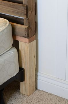 How to attach DIY headboard to frame - I knew there was a way instead of bolting to the wall like a lot of DIY's suggest! Um, no.