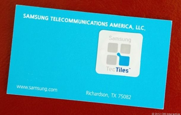 Samsung TecTiles: NFC stickers do cool stuff with your phone