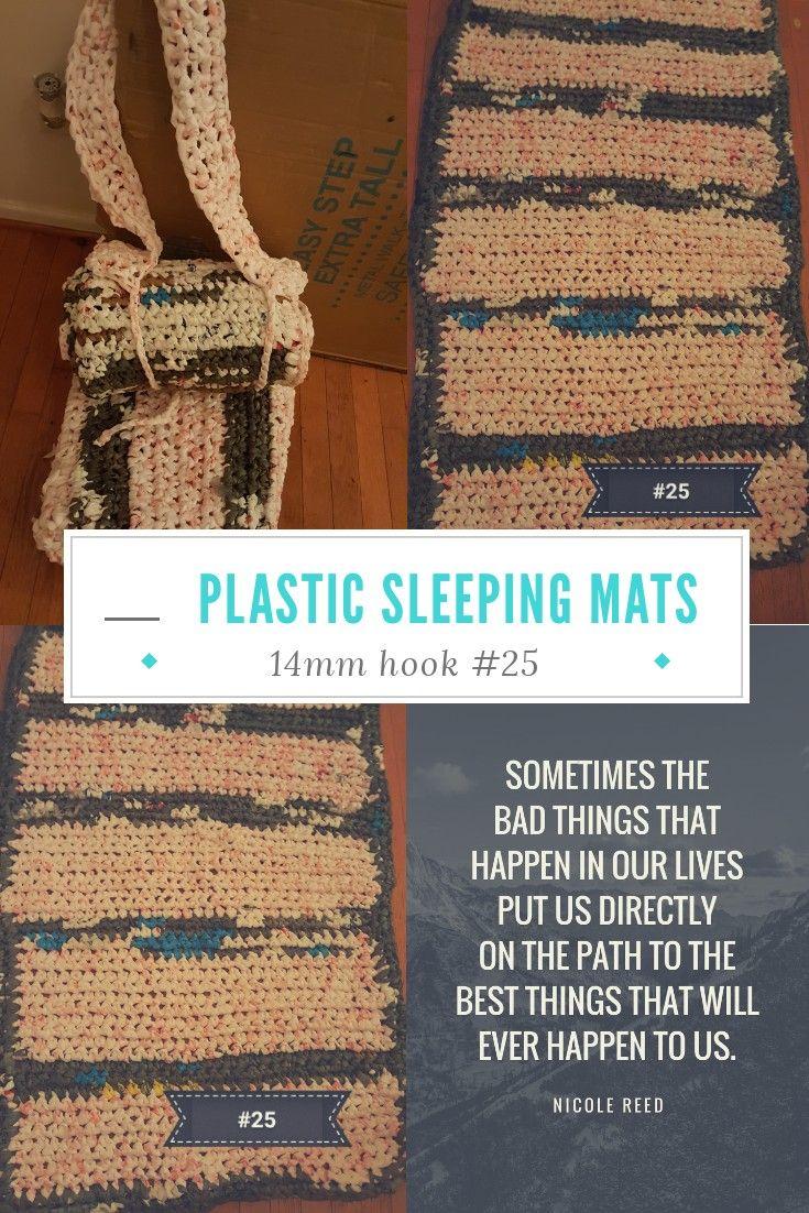 Crochet Plastic Sleeping Bag Mats For The Homeless Plastic Bag Crochet Knitting For Charity Recycled Plastic Bags