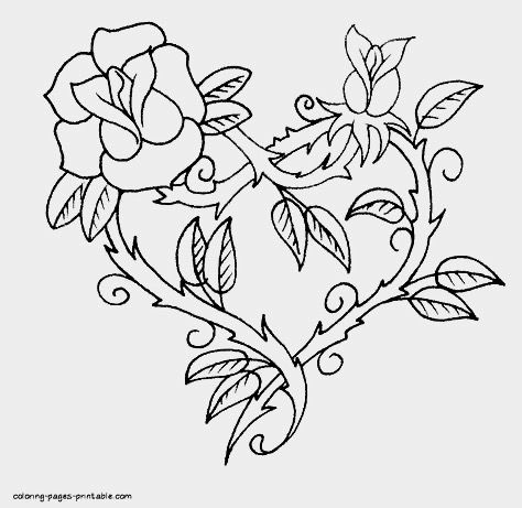 pinbthand on printable coloring book  heart coloring pages rose coloring pages valentine