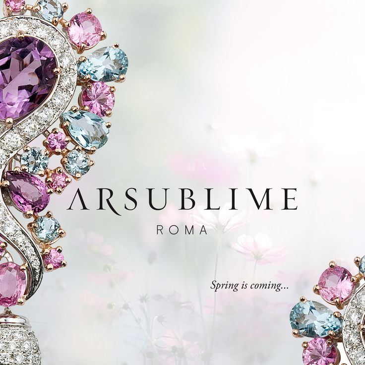#arsublime #spring #primavera #springiscoming #precious #stone #coloured #multicolor #stone #shine #madeinitaly #handmade #italian #artisanal #luxury #acquamarine #diamonds #style #rome #roma #amethyst #season #finejewellery #highjewellery