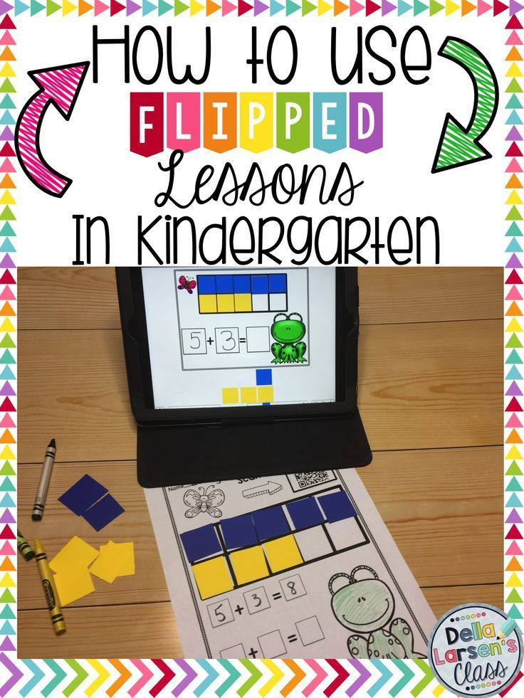 How do you use flipped lessons n kindergarten? Let's embrace technology in the primary grades. Use Ipads in your class to increase addition and subtraction skills. Flipped lssons are perfect for RTI groups, small groups, guided reading, homework, morning