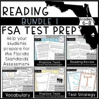 Help your students prepare for the FSA (Florida Standards Assessment). This bundle includes fiction, informational text, and pared passages. Question types: multiple choice, multiselect, A/B, hot text and open reason.