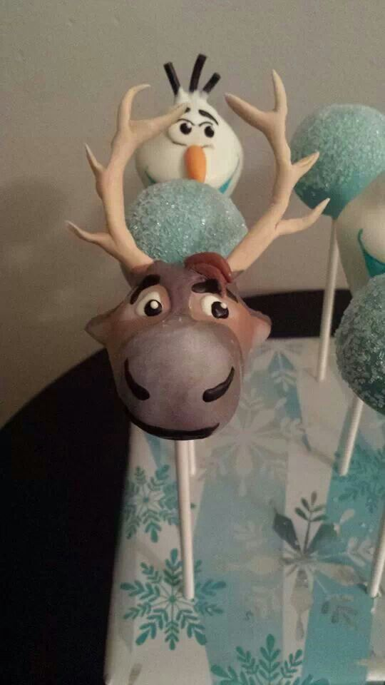 """""""Frozen"""" Cake Pop - Travel cake - For all your cake decorating supplies, please visit craftcompany.co.uk"""