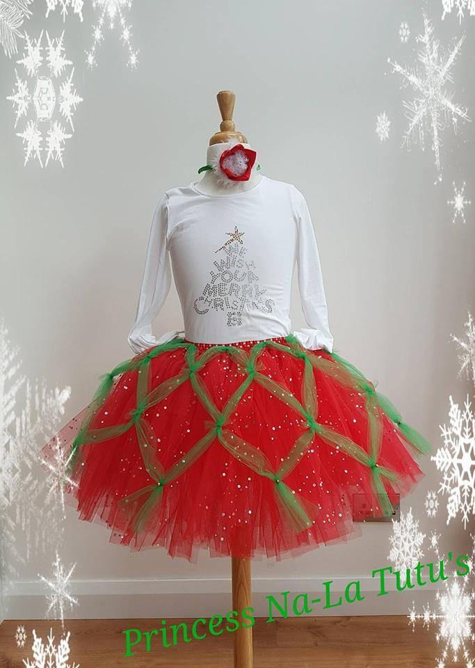 Christmas Tutu Dress - XMas dress - Santa Dress - Claus Party Dress - Holiday Tutu Outfit - Santa Outfit For Girls - Red Christmas Dress by PrincessNaLatutus on Etsy