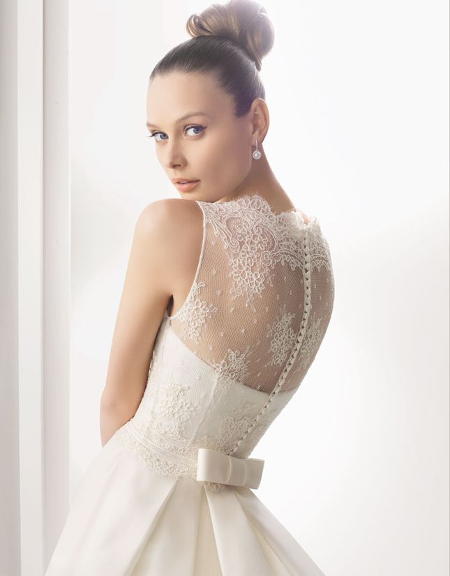 Lace-backed dresses