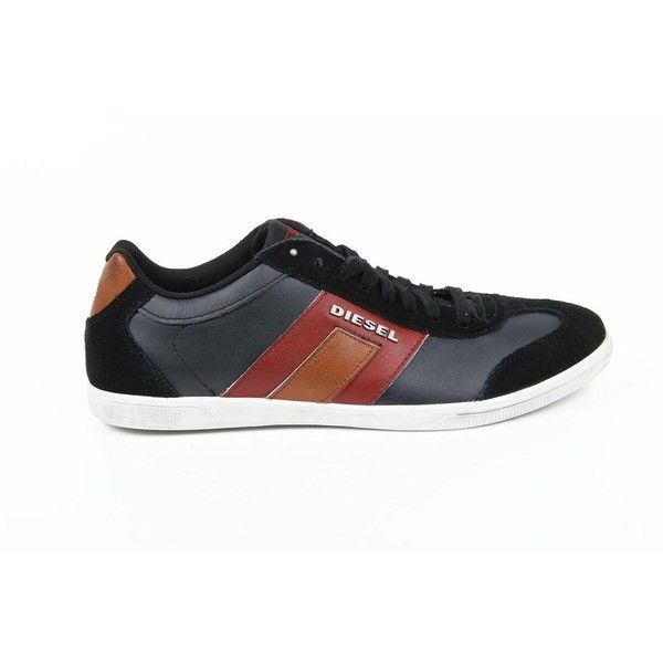 Diesel mens sneakers VINTAGY LOUNGE Multicolor 9 US ❤ liked on Polyvore featuring men's fashion
