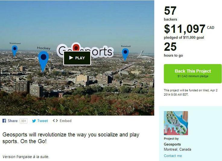 Funded on kickstarter : https://www.kickstarter.com/projects/geosports/geosports  Thanks to all backers!