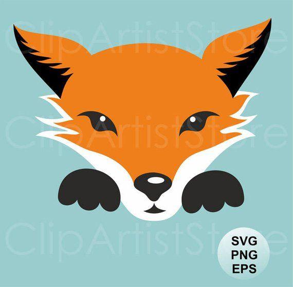Fox Svg Clipart Fox Vector Clip Art Cute Fox Clipart Fox Svg Etsy In 2021 Animal Clipart Cute Fox Woodland Clipart
