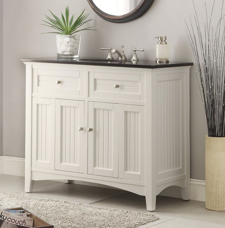Adelina 42 inch Antique Sink Bathroom Vanity http://www.listvanities.com - 53 Best White Bathroom Vanities Images On Pinterest Cottages