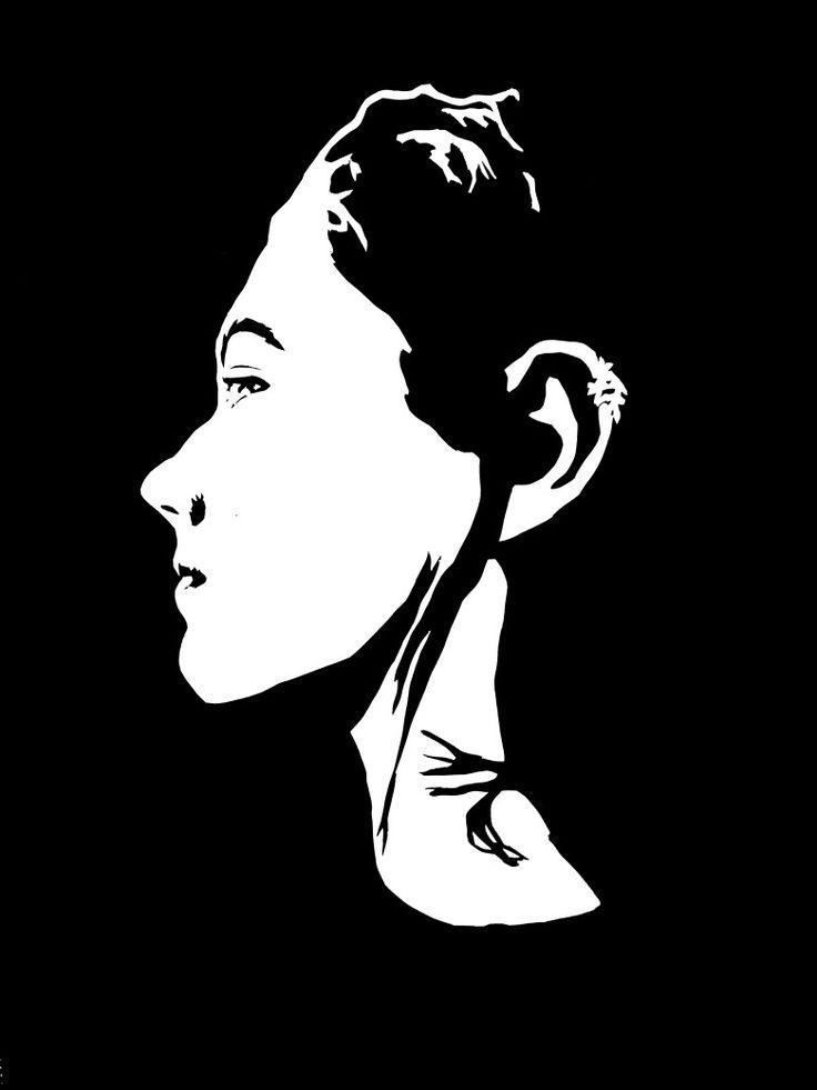 Scherenschnitt Profilbild