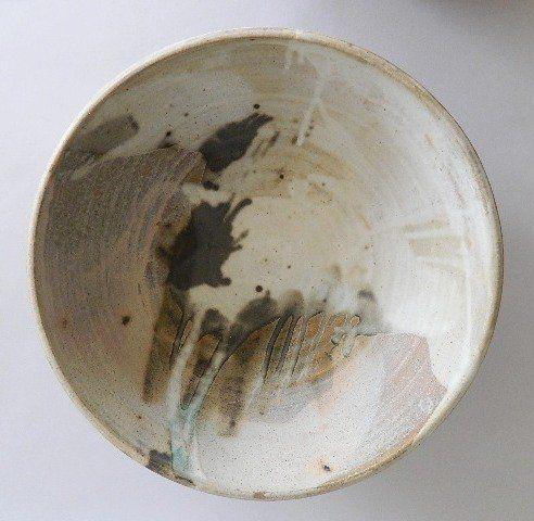 Toshiko Takaezu (American 1922-2011)- Untitled- ceramic charger, signed with monogram on bottom.  17''dia, 5 1/2''h